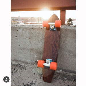 1 of a kind. Brazilian hardwood. Hand shaped penny board.