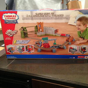 Gently used Thomas The Train motorized train with track