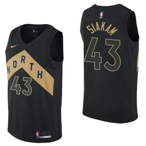 BRAND NEW Pascal Siakam #43 Raptors City OVO Black/Gold Jersey