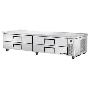 8ft True stainless chef base low boy fridge ( like new ! ) only $2995! Retails over $7000+