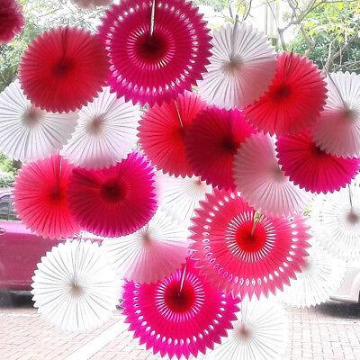 5pcs/pack Tissue Paper Cut-out Fan Tassel Garland Wedding Birthday Party Decor  (Tissue Garland)