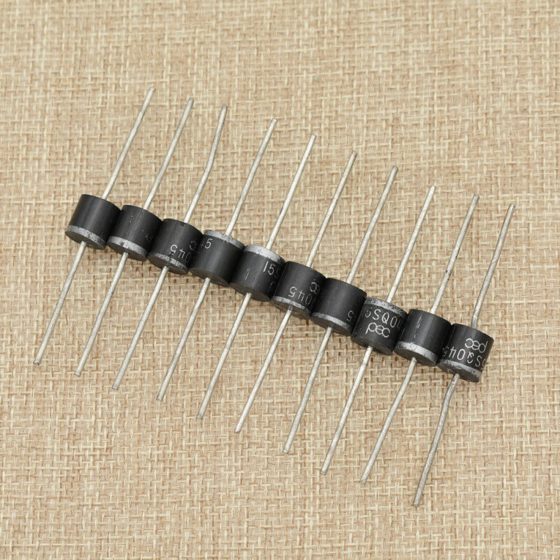 10Pcs 15a 45v High Efficiency Schottky Axial Rectifier Bypass Blocking Diode