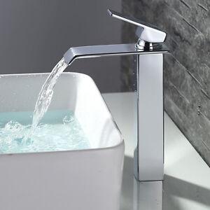 Hoch Design Wasserfall Wasserhahn Wasserbecken Armatur Mischbatterie Waschtisch