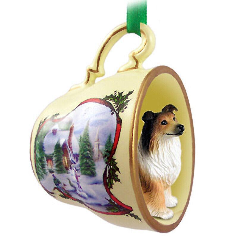 Collie Christmas Ornament Teacup Sable