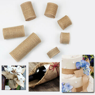 Wedding Diy Projects (1M/Roll Natural Burlap Ribbon for Arts & Crafts Homemade DIY Projects)