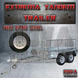 10x5 tandem braked extreme heavy duty galvanized cage new trailer