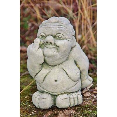Stone Figure Cheeky Oma Skulpuren Cast New Frost Proof People DE-572