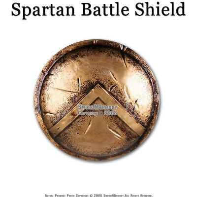 "King Leonidas 300 Spartan Greek Battle Shield Replica Pro Costume 24"" Diameter"