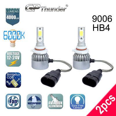 2 Bulbs GP Thunder LED Headlight 9006 HB4 6000K Low Beam Bulb White PAIR Bright Cheyenne 1 Bulb