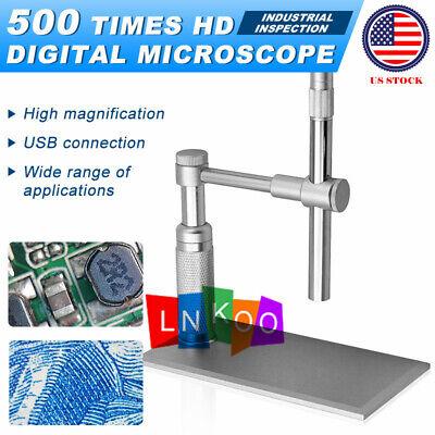 Andonstar 1-500x 8led 2mp Microscope Video Usb Digital Camera Repair Pcb Tool