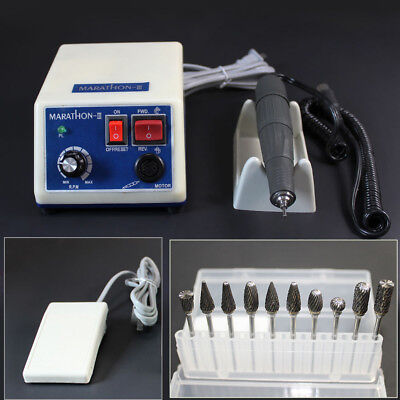 Dental Lab Marathon 35k Rpm Handpiece Electric Micromotor Polisher10 Drill Usa