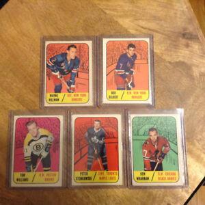 High Grade - NrMt - 67-68 Topps Hockey Cards