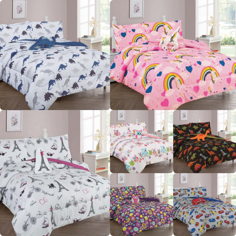 8PC COMPLETE FULL BED DRESSING COMFORTER AND SHEET BEDDING S