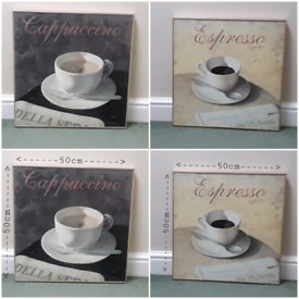 BOTH CAPPUCCINO/ESPRESSO WALL ART PICTURES