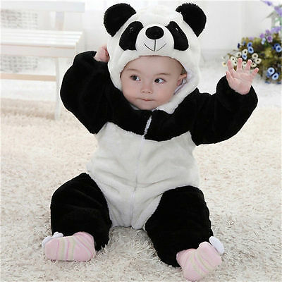 Baby Boy Girl Halloween Panda Fancy Party Costume WARM Outfit Clothes Cosplay US
