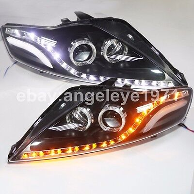 For FORD for Mondeo LED Angel Eyes LED Turn Lights Head Lamps 2007-2012 year JC