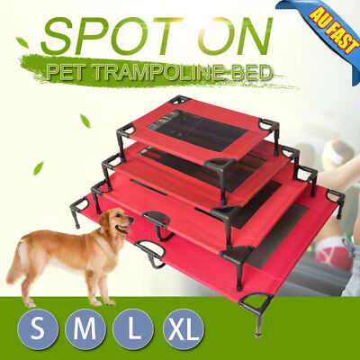 4 Size Heavy Duty Pet Dog Bed Trampoline Hammock Canvas Cat Puppy Cover AU Stock