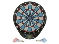 GEOLOGIC ED110 DARTBOARD ELECTRONIC with darts and spare plastic points