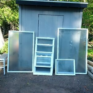6 Double glazed windows of various sizes for sale