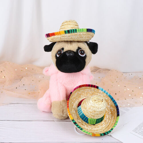 Mini Pet Dogs Strohhut Sombrero Katze Sonnenhut Beach Party Strohhüte Hunde TPD