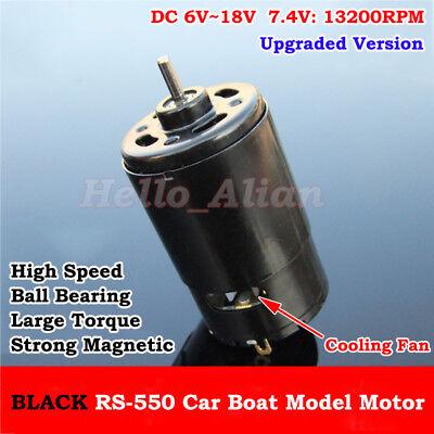 RS-550 Motor DC 12V 18V 13200RPM High Speed Large Torque Ball Bearing Cool fan