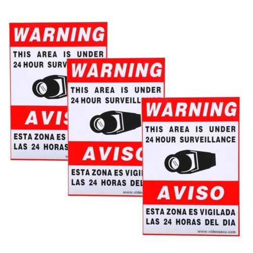"""12 qty of 3x5/"""" Decal Sticker Sign WARNING BEWARE OF DOG"""