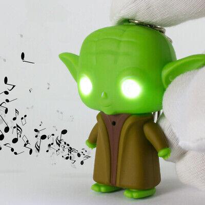 Star Wars Darth Vader yoda action figure led flashlight key chain ring voice