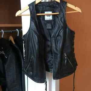Woman's small harley leather jacket