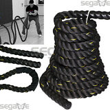 "1.5"" 50FT Poly Dacron Battle Rope Exercise Crossfit Strength Training Undulation"