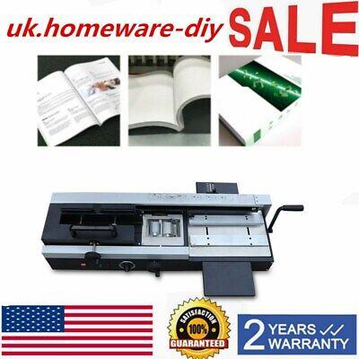 Neu Hot Glue Book Binding Machine A4 Desktop 1200w 110v 4 Cm Plastic Binding