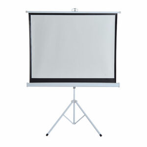 "120"" Portable Tripod Projector Screen Pull-up Home Office Fold"
