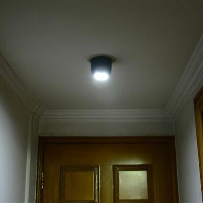 LED Light-operated Motion Cordless Sensor Battery Power Light Sconce Wall NEW