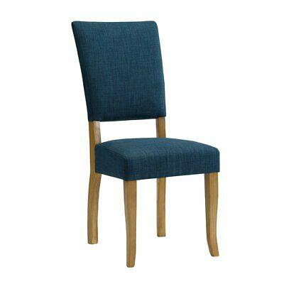 2 Open Back Chairs - Set of 2 Blue Open-Back Parsons Dining Chairs