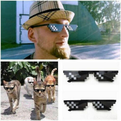 Thug Life Glasses 8 Bit Pixel Deal With IT Sunglasses Unisex Sunglasses Decor (Thug Life Glasses)