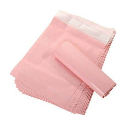 50pcs Mailers Pink Translucent Courier Packing Bags Letter Supplies Waterproof