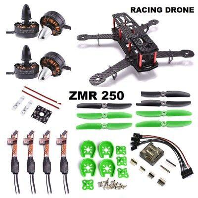 Racing Drone QAV250 ZMR250 Carbon Fiber NAZE32 6DOF 2300KV RC Quadcopter FPV UK