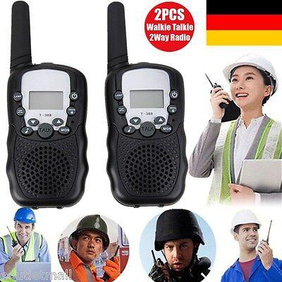 2X 8 CH Kanäle Walkie-Talkie Set PMR Hand Funkgerät Funk Telefon 5KM Reichweite