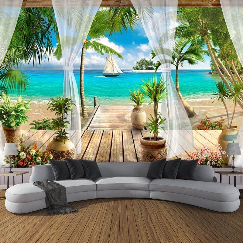 Wall Mural Wallpaper 3d Living Room Sofa Bedroom Tv Background Home Decor Photo Ebay