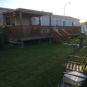 Mobile home on its own lot
