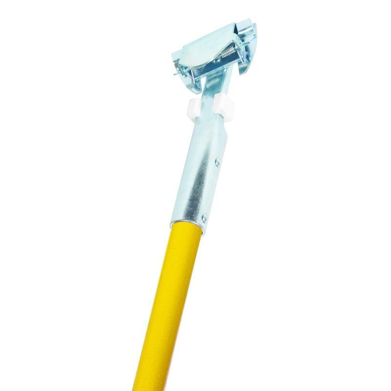 "Nassco Pro Series Clip-On Dust Mop Handle, 60"" Yellow Fiberglass Handle, 1 Each"