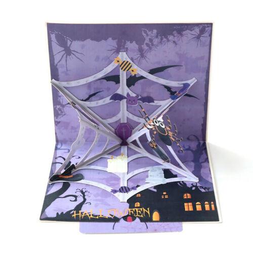 Halloween Pumpkin 3D Greeting Card Handmade Gift Card for Kids P0