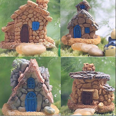 1 ×Stone House Fairy Garden Miniature Craft Micro Landscape Decoration Random Sc