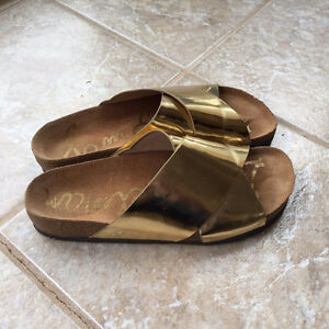Sam Edelman sandals, gold, size 9