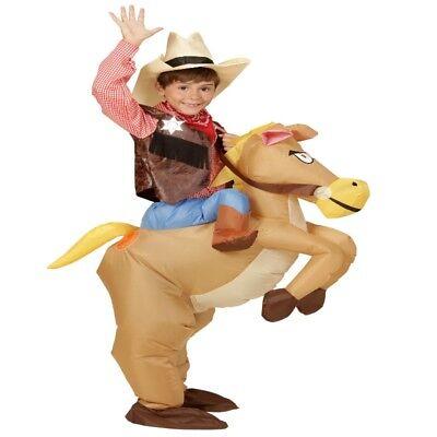 AUFBLASBARES PFERD Reiten COWBOY KINDER Kostüm Party  - Kinder Kostüme Pferd