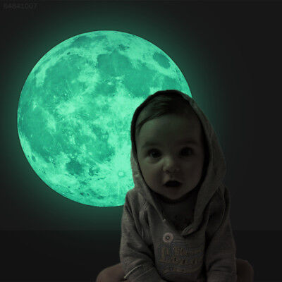 Home Decoration - 30cm Home Kids Room Luminous Decor Moon Stickers Wall Glow In The Dark Mural.