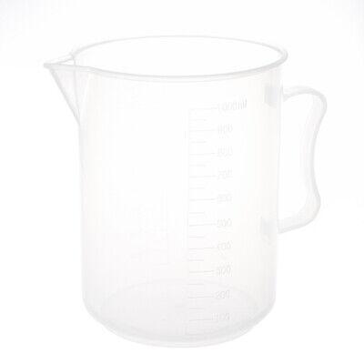 1000ml Capacity Clear Plastic Graduated Laboratory Measuring Set Beaker H7s4