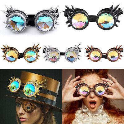 Steampunk Goggles Spikes Prisma Brille Kaleidoskop Burning Man Dornen Rave Heiß