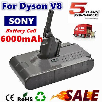 6000mAh For Dyson V8 Battery V8 Absolute Handheld Vacuum Cleaner Sony Cell TP