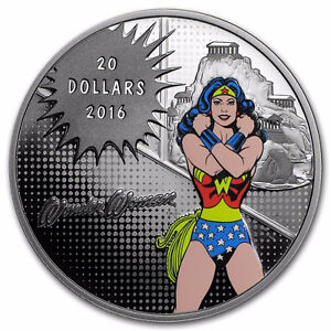 2016 $20 WONDER WOMAN Silver Coin - Maritime Gold & Silver