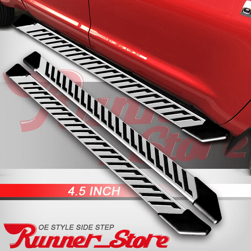 """Fit 05-20 Toyota Tacoma Double Cab 4.5/"""" Running Boards Side Step Nerf Bar S//S FJ"""